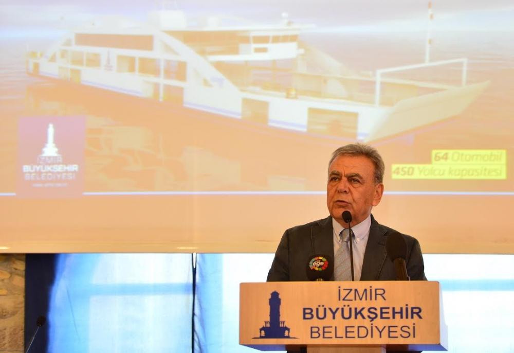 İzmir Büyükşehir Belediyesi arabalı vapur imza töreni galerisi resim 2