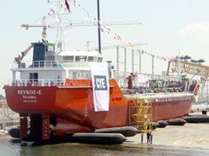 M/T BEYKOZ-E, törenle denize indirildi