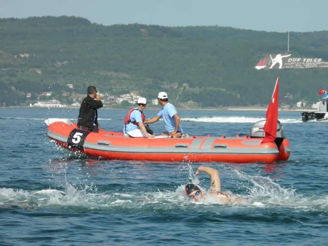 Türkiye açık yüzme şampiyonası Çanakkale boğazında yapıldı galerisi resim 1