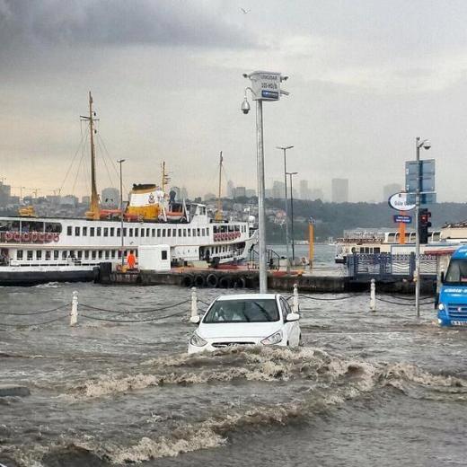 İstanbul'da deniz, karayla birleşti galerisi resim 1