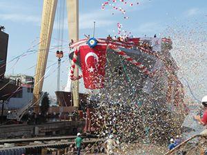 'IŞIN' adlı gemi törenle denize indirildi