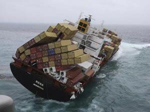 Denizin ortasında talihsiz kaza