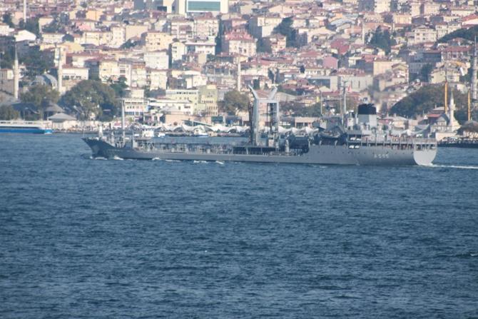 "Türk savaş gemisi "" TCG Yarbay  Kudret Güngör  (A-595) "" İstanbul Boğazı galerisi resim 1"