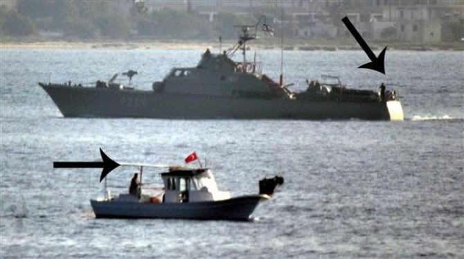 Tacizci Yunan botuna Türk denizaltısı engel oldu galerisi resim 1