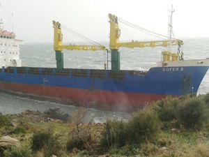 Gofer B isimli kuru yük gemisi sürüklendi
