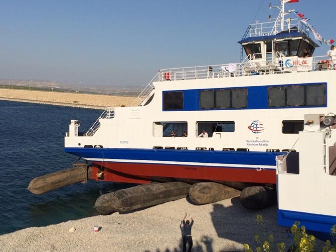 YÜTEK Gemi İnşa, M/F BELKIS arabalı vapurunu suya indirdi galerisi resim 1