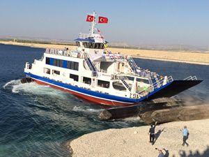 YÜTEK Gemi İnşa, M/F BELKIS arabalı vapurunu suya indirdi