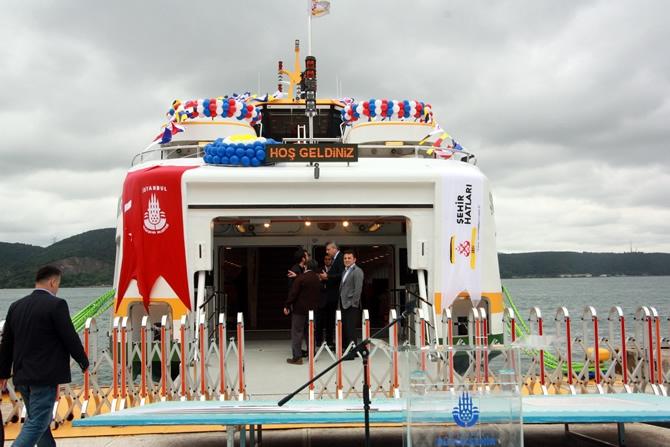 İstanbul Şehir Hatları yeni gemilerine kavuştu galerisi resim 1