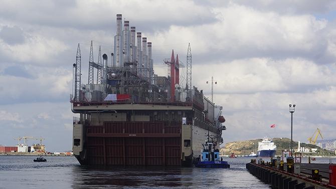 Karadeniz Holding'in yüzen santralleri uğurlandı galerisi resim 19