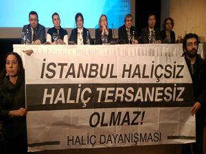 Haliçport toplantısında protesto