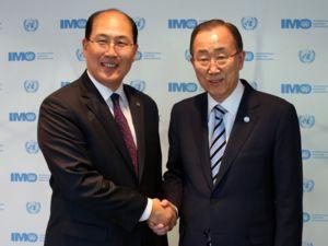 BM Genel Sekreteri Ban Ki-Moon, IMO'yu ziyaret etti