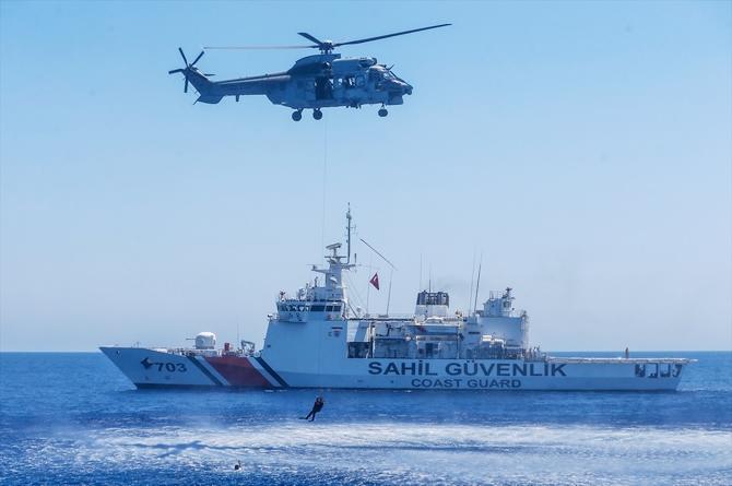 Şehit Teğmen Caner Gönyeli Tatbikatı'nın deniz safhası başladı galerisi resim 1