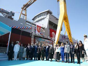 'TCG Yüzbaşı Güngör Durmuş' gemisi, denize indirildi