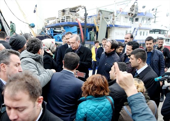 Cumhurbaşkanı Erdoğan, balıkçılarla ava çıktı galerisi resim 1