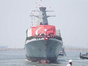 'TGC Kınalıada' korveti, denize indirildi