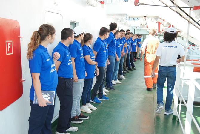 T/S SAMSUN Eğitim Gemisi Zeyport'tan yola çıktı galerisi resim 10