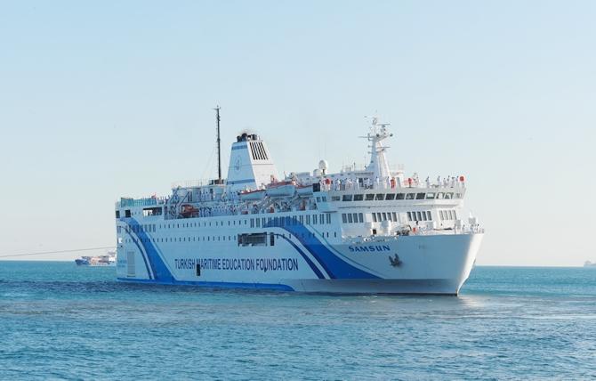 T/S SAMSUN Eğitim Gemisi Zeyport'tan yola çıktı galerisi resim 26
