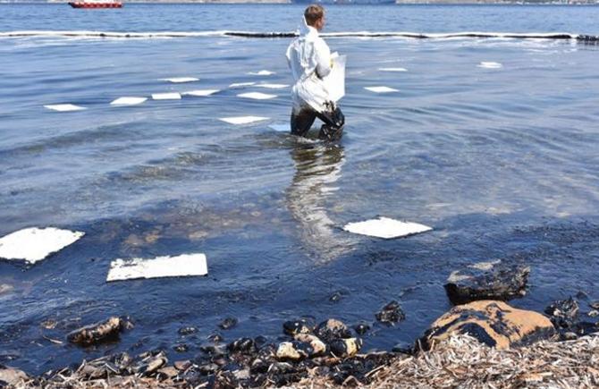 Foça'da denize 'ağır yakıt' bulaştı galerisi resim 1