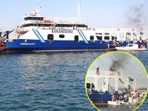 Çanakkale'de 'Karahasan 2' isimli feribotta yangın çıktı