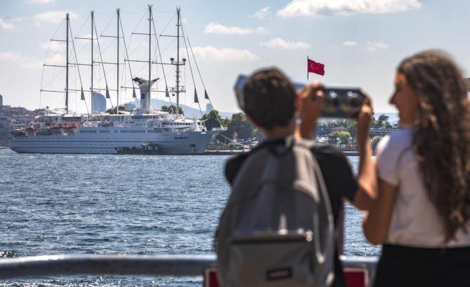 'Club Med 2' yolcu gemisi, Sarayburnu'na demir attı galerisi resim 1