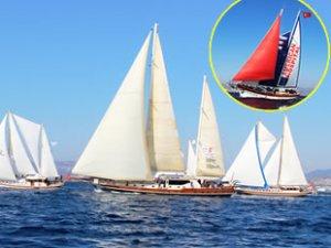 Tekneler, denizde görsel şölen oluşturdu