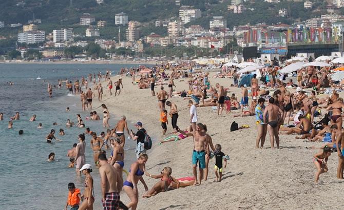 Alanya'da tatilciler plajları doldurdu galerisi resim 6