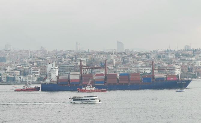 Kazazede gemi SONGA IRIDIUM, Ahırkapı'ya demir galerisi resim 3