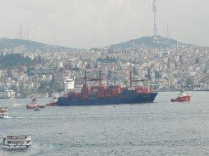 Kazazede gemi SONGA IRIDIUM, Ahırkapı'ya demir