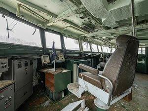 Askeri gemi mezarlığındaki terk edilmiş gemilerin etkileyici görüntüleri