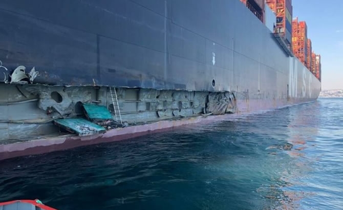 Kazazede gemi MSC TINA, böyle görüntülendi galerisi resim 9