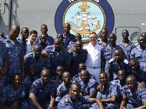 Barbaros Görev Grubu Gambiya'da coşkuyla karşılandı