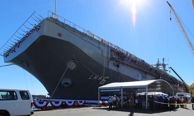 USS America, ABD Donanması'na teslim edildi galerisi resim 1