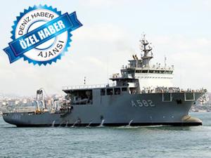 Denizaltı Kurtarma Ana Gemisi Alemdar'ın deneme seyrinde faciadan dönüldü