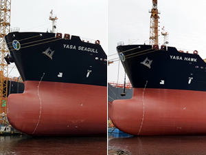 M/T YASA HAWK ve M/T YASA SEAGULL, Valero'ya kiralandı