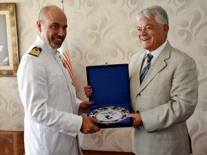 İtalyan askeri eğitim gemisi, Aksaz Deniz Üssü'ne demirledi