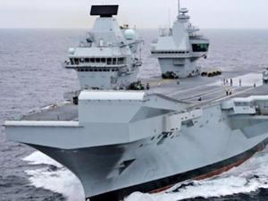 'HMS QUEEN ELIZABETH' isimli uçak gemisi hizmete girdi