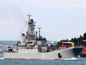 'Azov' isimli savaş gemisi, İstanbul Boğazı'ndan geçti