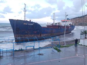 M/V SINAN NAIBOGLU, Nemrut Limanı'nda karaya oturdu