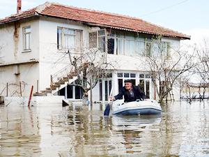 Meriç ve Ergene'de tarım arazileri su altında kaldı