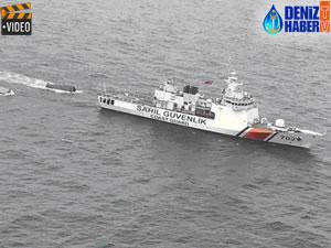 Üç konteynere Sahil Güvenlik müdahale etti