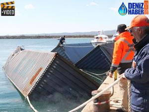 İğneada Limanı'na getirilen konteynerler incelenecek