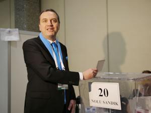 İMEAK DTO Başkan Adayı Tamer Kıran, oy kullandı