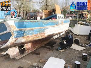 Karadeniz'de balıkçılar tekneleri onarmaya başladı
