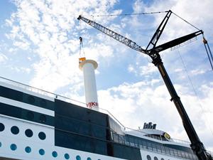 M/S VIKING GRACE, rüzgar gücüyle desteklendi