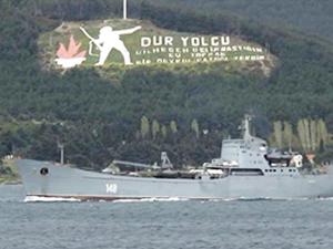 Askeri araç yüklü 'Orsk', Çanakkale Boğazı'ndan geçti