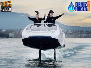 Elektrikli deniz taksisi SeaBubbles su üstüne test seferlerine başladı