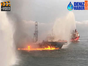 'GEOS'ta Malezya açıklarında yangın çıktı