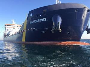 İlk buz sınıfı çift yakıtlı 'M/T MIA DESGAGNES'e isim verme töreni yapıldı