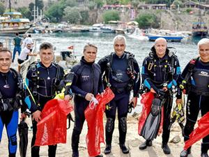 Deniz dibi temizliği öncesi deneme dalışı yapıldı
