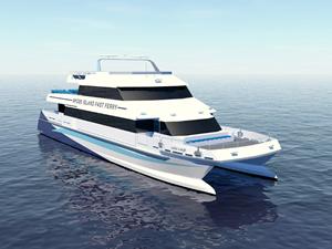 Gladding Hearn, Rhode Island'a feribot inşa ediyor